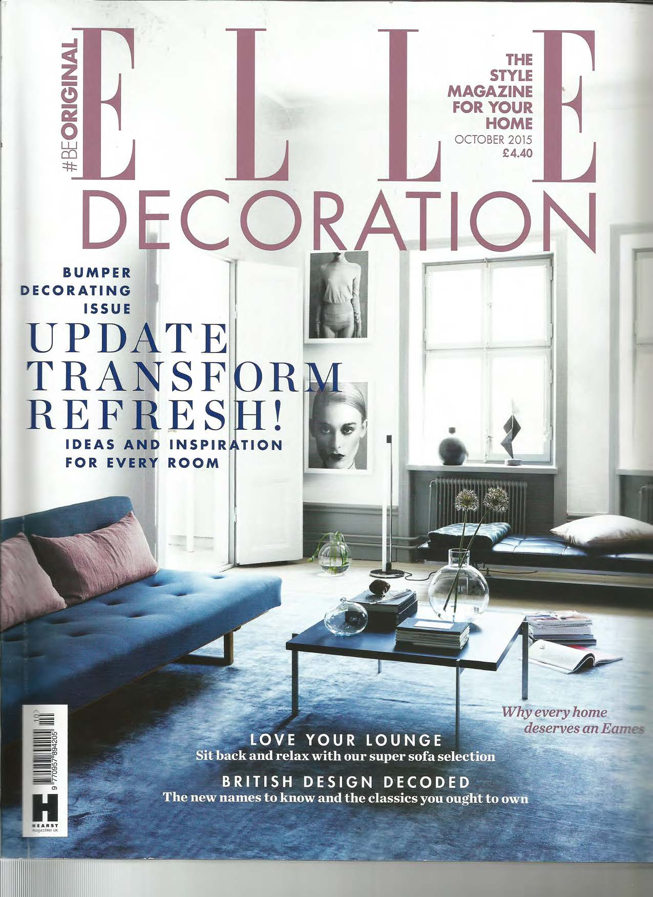 House on Water Ltd featured in ELLE DECORATION UK