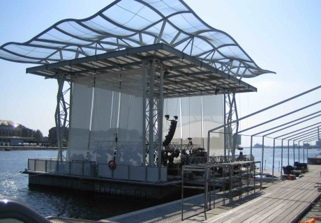 Houseboat – Floating stage – by Dirkmarine